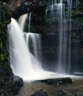 Akaah water falls in eastern region