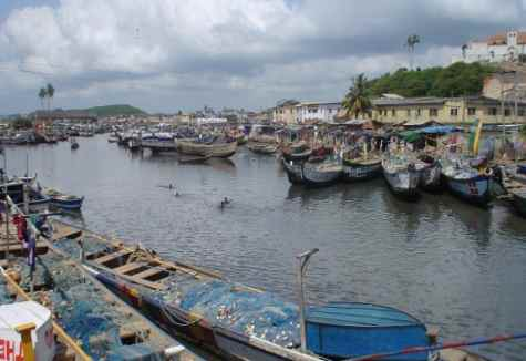 elmina fishing harbour