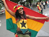 Ghana Flag Girl