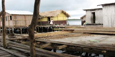 wooden buildings in nzulenzu