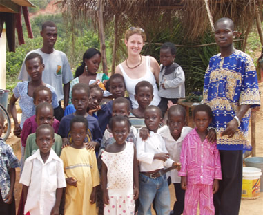 Orphans in group picture