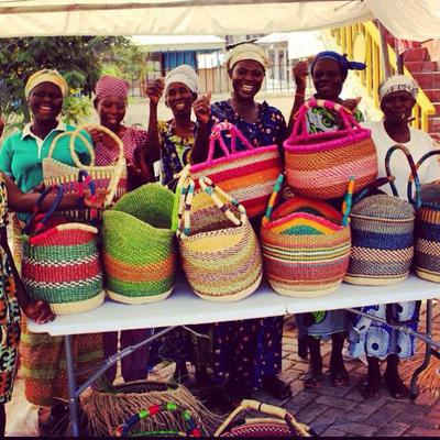 Nice display of colourful of baskets